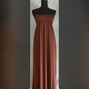 Just Love Brown Maxi Dress Size Small